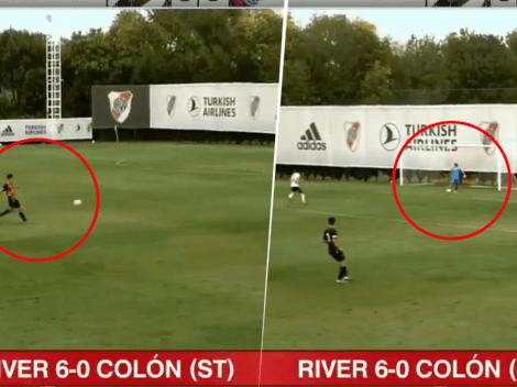 Nadie sabe qué le pasó al arquero: insólito gol en contra en River vs. Colón de reserva