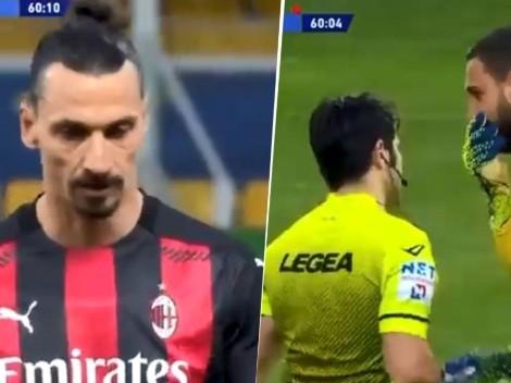 Ibrahimovic fue expulsado con Milan y nadie sabe por qué: así fue la roja