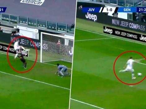 Video: Cristiano Ronaldo falló un gol inexplicable pero terminó asistiendo a Morata