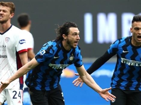 Inter sufrió ante Cagliari, pero ganó y nadie lo frena en la Serie A