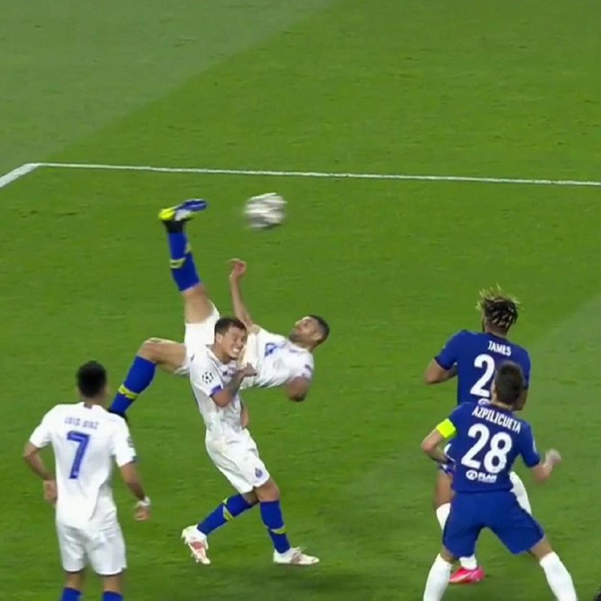 Video del golazo de chilena de Mehdi Taremi en Chelsea vs. Porto, por la Champions League | Bolavip