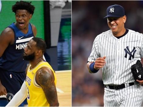 ¿Cortan al 'hermano menor' de LeBron? Anthony Edwards confunde a A-Rod