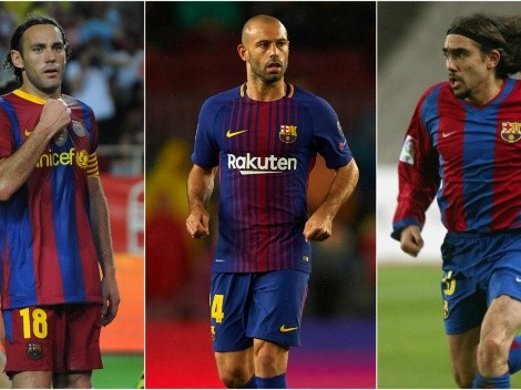 The five Argentine defenders who played for Barcelona