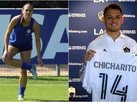 Chicharito tiene una nueva aficionada en la MLS: Alex Morgan
