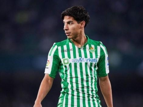 Diego Lainez vio minutos en el empate entre Real Betis y Valencia