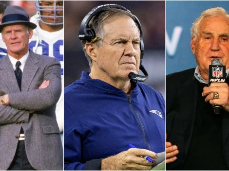 Who are the five longest-tenured head coaches in NFL history?