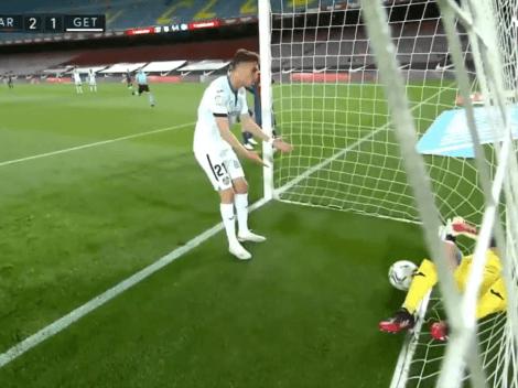 Quiere ser el 9 del Barcelona: insólito gol en contra de Chakla para Getafe