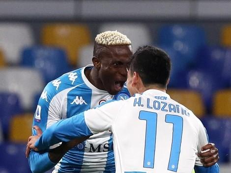 Napoli goleó a Lazio en un encuentro clave por el acceso a las copas europeas