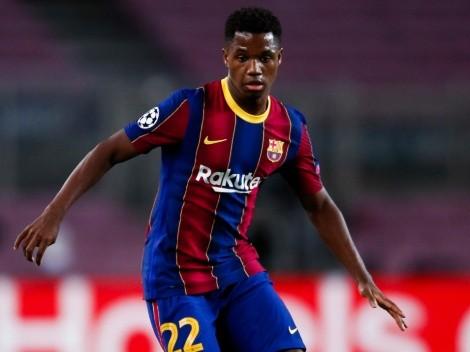 Barcelona's wonderkid Ansu Fati keeps struggling with knee injury