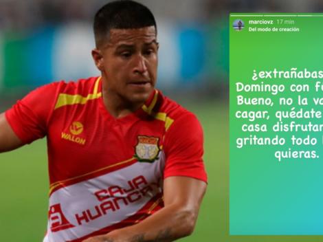 """""""¿Extrañabas un domingo con fútbol? Bueno, no la vayas a cag..."""": Marcio Valverde lanza insólito consejo"""