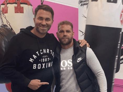 Desacuerdo entre Eddie Hearn y Saunders previo a la pelea con Canelo Álvarez