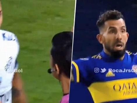 Video: Tevez ni sabía si valía o no pero terminó metiendo el 1-0 de Boca