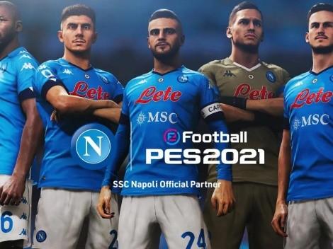 ¡Bomba! A partir del PES 2022, Napoli será partner de KONAMI y dejará de estar en el FIFA
