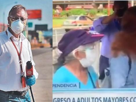 ¡APLAUSOS!: Gunter Rave intervino para que señora de 70 años sea vacunada