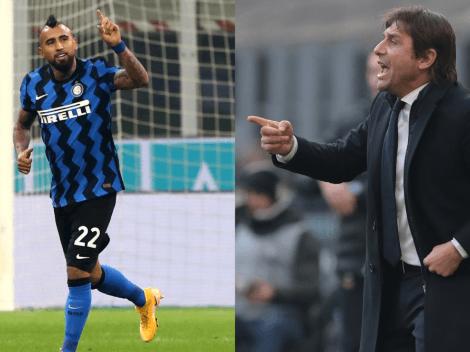 Vidal y Conte quieren volver a abrazarse como campeones