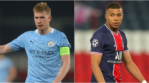 Manchester City and PSG face off with a UCL Final spot at stake (Getty).