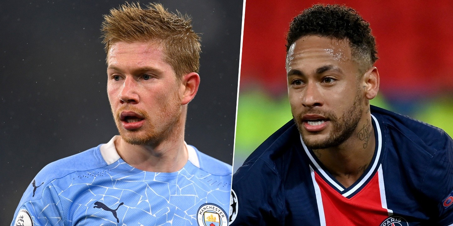 Kevin De Bruyne y Neymar Jr, UEFA Champions League (Imagen: Getty)