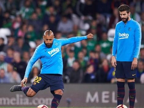 Gerard Piqué se burla de Arturo Vidal por el campeonato en la Seria A