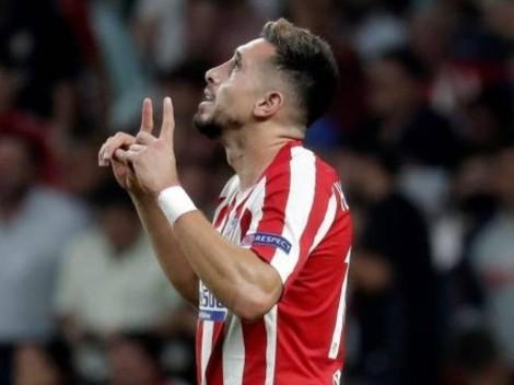 Héctor Herrera calienta motores para medirse con el Barça: Golazo en la práctica del Atlético