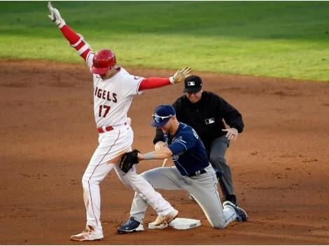 ¿Cómo? Shohei Ohtani bateó doblete con un roletazo al shortstop