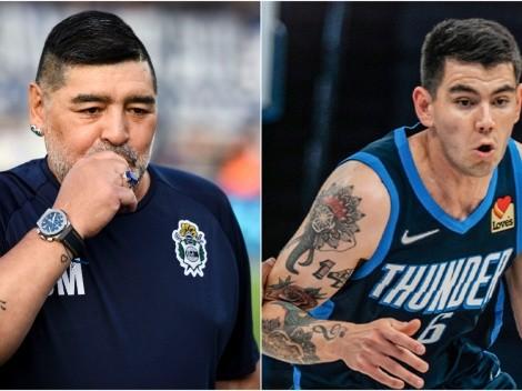 El Diego en la NBA: durante el juego de Deck apareció el nombre de Maradona