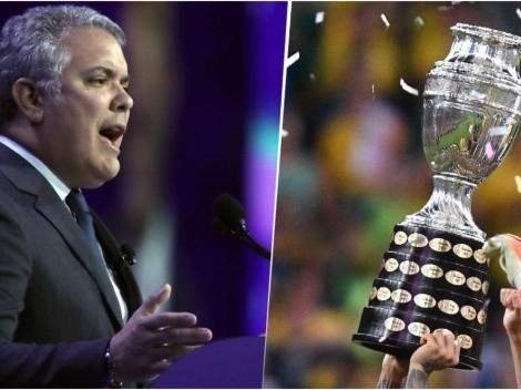"""""""La Copa América será en dos paises, seria absurdo que no se hiciera"""": Iván Duque"""