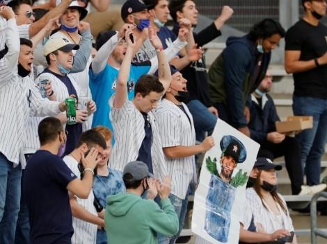 El recibimiento de los fans de Yankees a José Altuve y Houston Astros