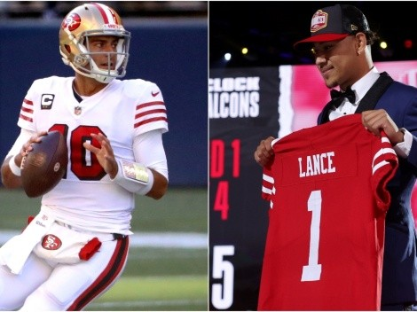 Jimmy Garoppolo habla de arribo de Trey Lance a 49ers recordando a Brady