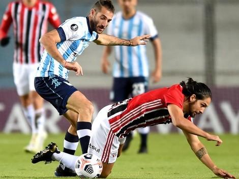 Piatti fue el jugador de Racing que más duelos perdió ante São Paulo