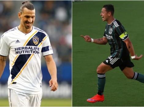 Chicharito tiene mejor inicio de temporada en MLS que Zlatan Ibrahimovic