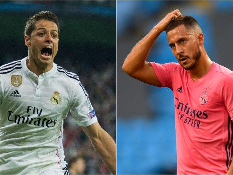 Los números de Chicharito en el Real Madrid humillan a Hazard