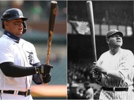Miguel Cabrera supera marca legendaria de Babe Ruth en MLB
