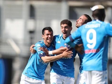 Hirving Lozano se lució con una anotación en la goleada de Napoli