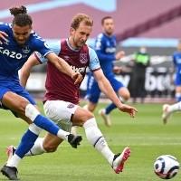 Milagro en Londres: sin James, Everton le ganó al West Ham en Premier League