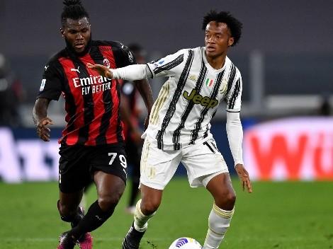 No se salva ni Cuadrado: el Milan metió paliza y le ganó a la Juventus por 0-3