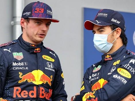 Max Verstappen se quejó de Checo Pérez por 'dejarlo solo' frente a Mercedes