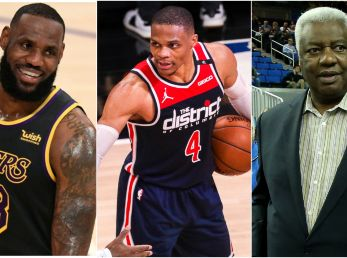 LeBron James, Russell Westbrook y Oscar Robertson (Foto: Getty)