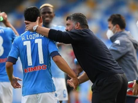 """El tremendo regaño de Gattuso a Lozano: """"¡Cállate y no me respondas!"""""""