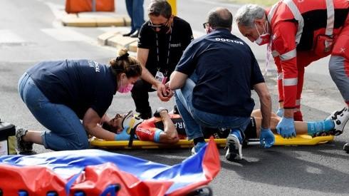 Video: así fue la terrible caída de Mikel Landa que lo sacó del Giro de Italia