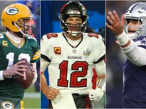 El calendario de Rodgers, Brady y Prescott en la temporada más grande