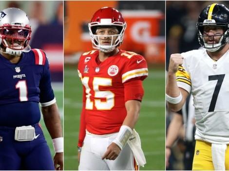Lo curioso y destacado del calendario NFL 2021 de Patriots, Chiefs y Steelers