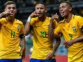 Philipe Coutinho, Neymar Jr. y Gabriel Jesus (Foto: Getty Images)