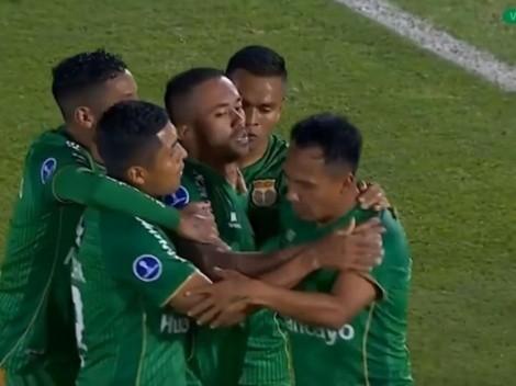 GOL PERUANO: Arroé marca el 1-0 para Sport Huancayo ante River Plate de Asunción