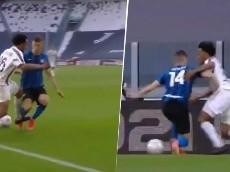 ¿Simuló? Enfado monumental en Italia por el penalti a Cuadrado en el Juve-Inter