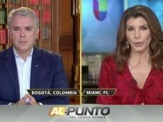 """""""Hasta Uribe se refiere a ud como un títere"""": le dijeron a Duque en TV internacional"""