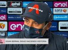 """""""No lo puedo creer"""": Egan Bernal rompe en llanto tras ser líder del Giro"""
