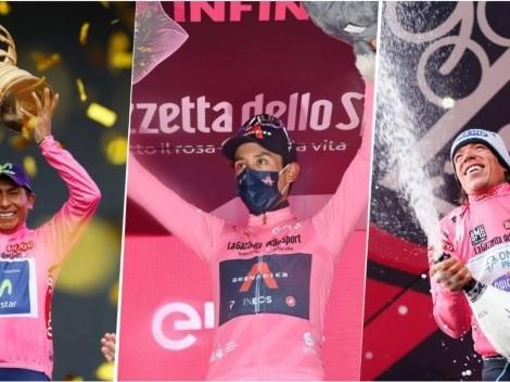 Con Egan Bernal, ya son 5 los colombianos que se han vestido de rosa en el Giro de Italia