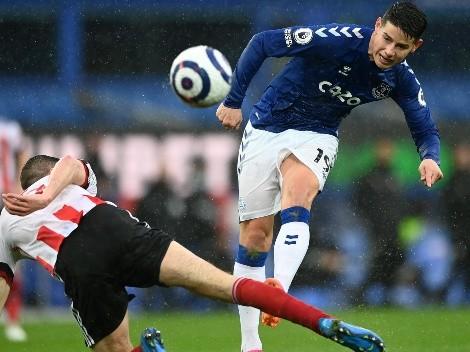 Con James, Everton perdió contra el colero y solo un milagro lo pone en Europa