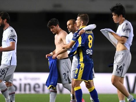 Gary Medel presente en el empate del Bologna sobre Hellas Verona