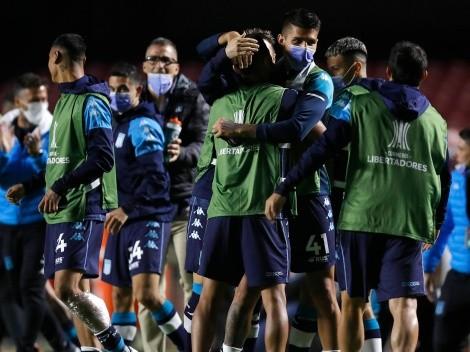 Arias, Mena y Díaz en octavos de final de la Copa Libertadores con Racing Club